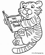 Coloring Tiger Tigers Reading Pages Colouring Printable Template Clipart Cubs Cub Books Jungle Animals Sheet Cartoon Animal Templates Games Fun sketch template