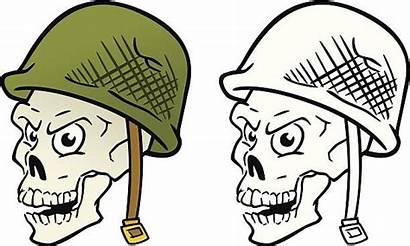 War Vietnam Clip Helmet Skull Vector Illustrations