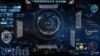 Rainmeter Spaceship Desktop Deviantart Panel Sci Fi