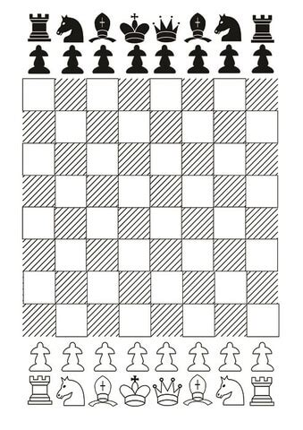 chess board  chess pieces printable template