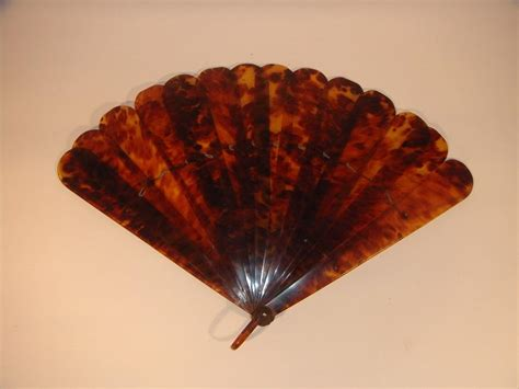 vintage fans for sale large asian vintage tortoise shell hand fan for sale