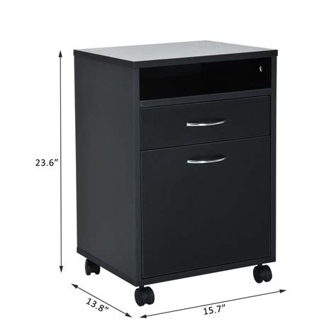 24 Inch High Nightstand by Homcom 24 Quot Rolling End Table Mobile Printer Cart