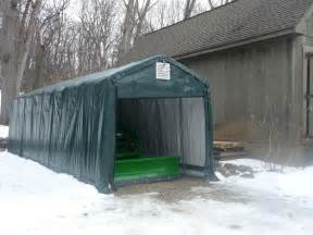 shelterlogic 10x20x8 21 5oz shelter portable garage steel