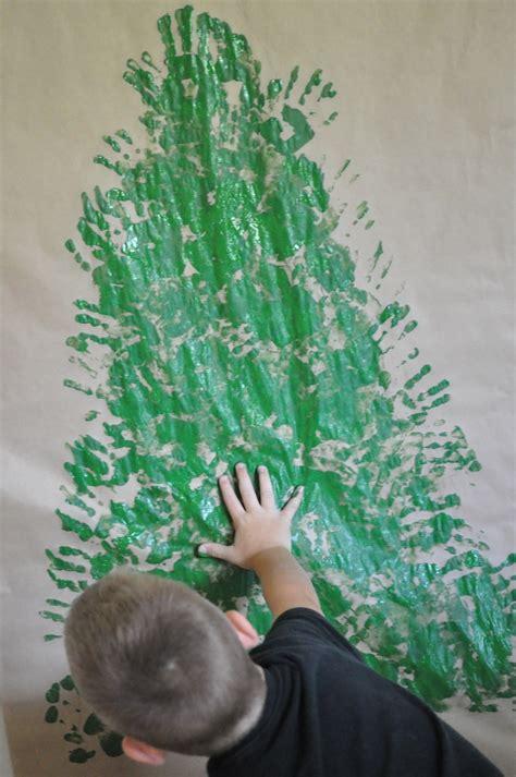 handprint christmas tree festive fun brisbane kids
