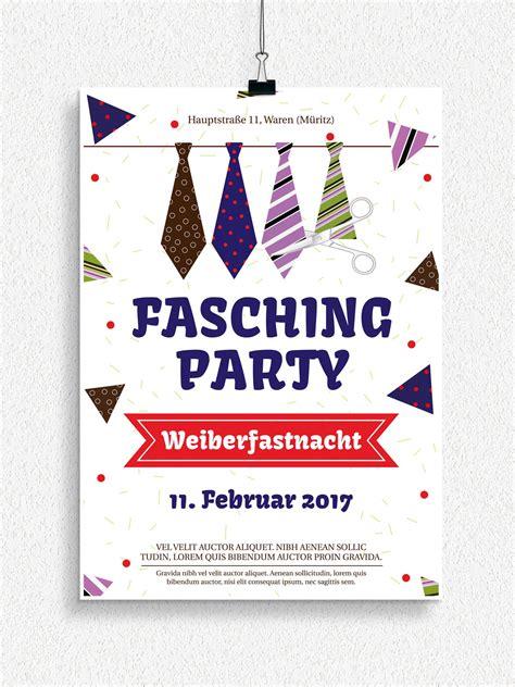 plakat und flyervorlagen fuer karneval und fasching