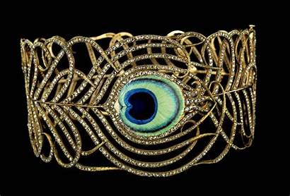 Collar Feather Peacock Jeweled Shape Close Museum