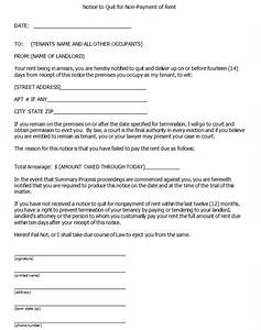 doc400520 landlord eviction notice letter blank With landlord to tenant eviction notice letter