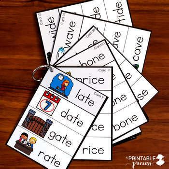 cvce words long vowel word building cards   printable
