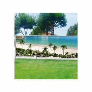 Brise Vue Décoratif : brise vue d co plage palmiers art d co stickers ~ Preciouscoupons.com Idées de Décoration