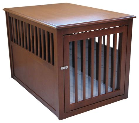 crown pet crate table crown pet crate table mahogany finish large craftsman