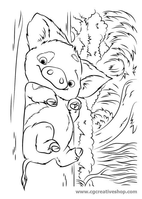disegni da colorare oceania cartone pua maialino oceania disney disegno da colorare