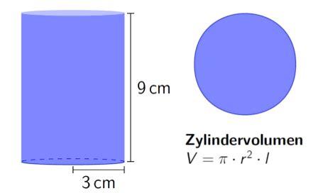 volumen eines zylinders berechnen touchdown mathe