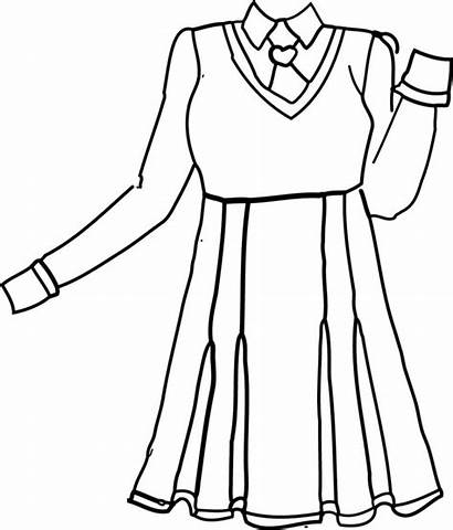 Uniform Clothes Anime Lineart Sketches Drawing Coloring