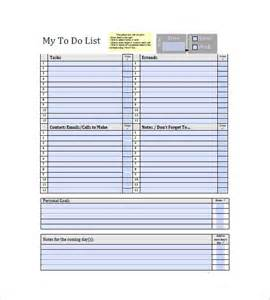 To Do List Template Free Download