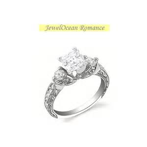 vintage princess cut engagement rings antique princess cut engagement ring closeout sale jewelocean