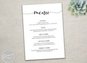 free wedding menu templates printable black menu template calligraphy style script instant diy in microsoft