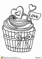 Coloring Cupcake Ice Cream Cupcakes Pages Adult Coloriage Printable Un Blank Colorier Drawing Sheets Google Skull Food Cake Valentine Books sketch template