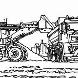 Coloring Excavator Coal Mining Struck Accidentally Elsa Anna Playing While Popular sketch template
