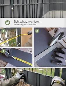 Sichtschutz Für Doppelstabmattenzaun : sichtschutz f r einen doppelstabmattenzaun montieren ~ Michelbontemps.com Haus und Dekorationen