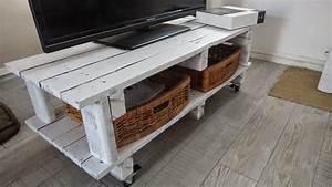 fabriquer meuble tele avec palettes a d39interieur inspire With fabriquer meuble tele avec palettes