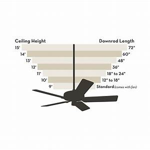 Ceiling Fan Downrod Length Chart Hunter 18 Downrod 18 Quot Down Rod For Hunter Or Casablanca