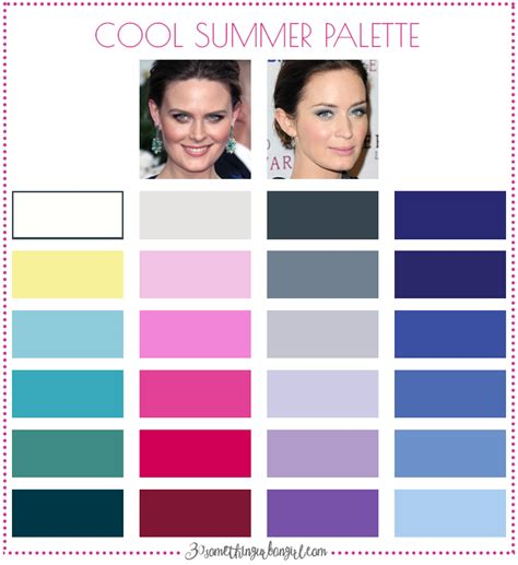 summer color palette are you a summer winter cool summer 30 something