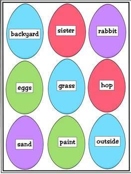 easter sorting nouns  verbs  educating