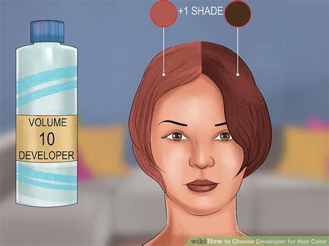 choose developer  hair color  steps
