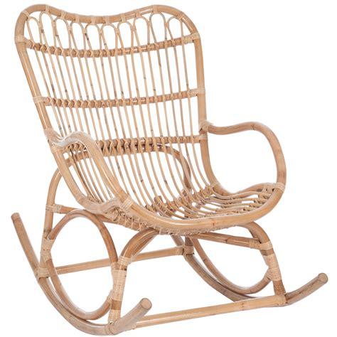 chaise bascule pas cher fauteuil à bascule bambou et rotin jolipa 61390 magasin