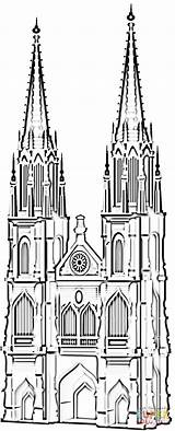 Cathedral Famous Coloring Pages Koln Germany Cologne Dom Printable Supercoloring Koelner Drawing Crafts Cathedrals Coloringpages101 Ausmalbilder Buildings sketch template