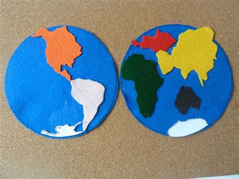 Pattern For Tracing Continent Shapes With Each Continent