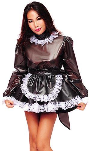 lolita plastic prissy sissy maid pla
