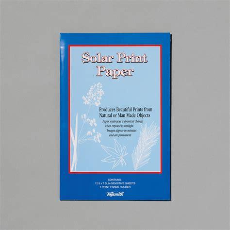 solar prints solar print paper gifts