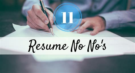 Things You Never Put On A Resume by 11 Things You Should Never Put On A Resume Career Made Simple