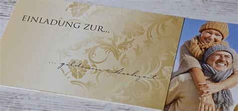 einladungskarten fuer die goldene hochzeit selbst gestalten