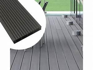 Lame De Bois Pour Terrasse : lame de terrasse en bois composite 9 m2 20 lames avec kit de montage complet lambourde 300 ~ Melissatoandfro.com Idées de Décoration