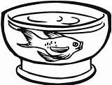 Fish Tank Coloring Goldfish Netart sketch template