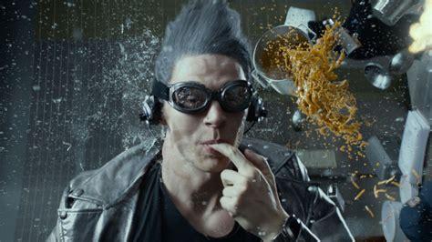 quicksilver scene future past days kitchen origins apocalypse evan peters vs movies slow mo avengers age