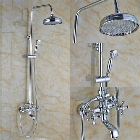 Shower Faucet Sets by Bathroom 8 Quot Rainfall Shower Faucet Set Tub Mixer