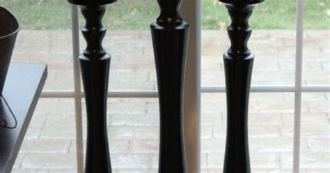 tall black candlestick gloss candle stick wooden pillar candle holder large vintage style wedding shabby chic wood candle  etsy