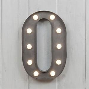 vegas metal led circus letter light o by all things With letter o light