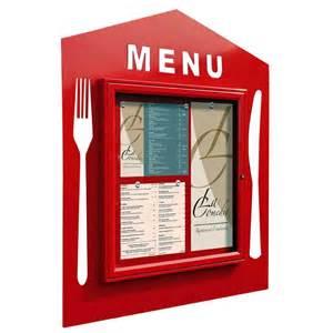 pavillon design vitrine murale pour affichage des menus restaurant
