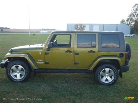 jeep unlimited green 2008 jeep wrangler unlimited sahara 4x4 in rescue green