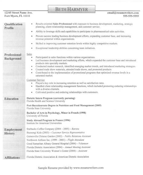 Sales Professional Resume Example Qualification Profile