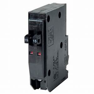 Square D 15 Amp Tandem Circuit Breaker By Square D At