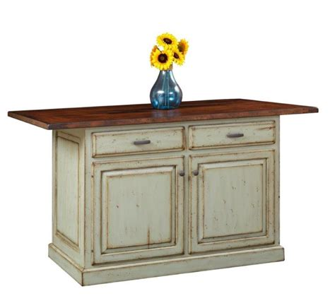 Amish Made Kitchen Island With Closed Storage