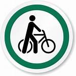 Symbol Walk Bicycle Sign Circle Walking Cycling