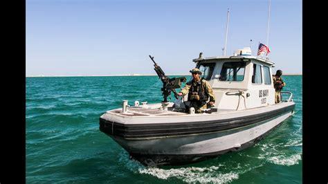 Harbor patrol unit in Bahrain sees close encounter - YouTube