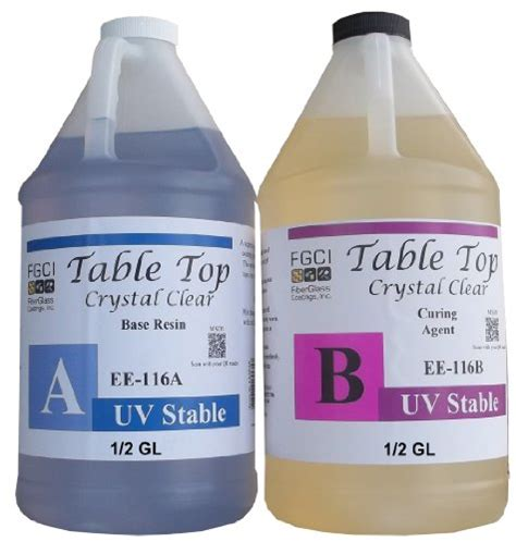 clear epoxy for table tops epoxy crystal clear table top resin 1 1 1 gallon kit