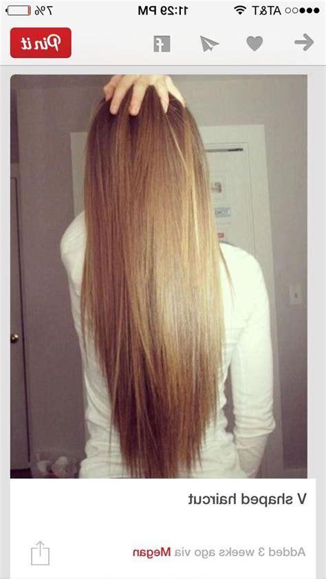Back View Of Long Layered Hairstyles Long U Layered